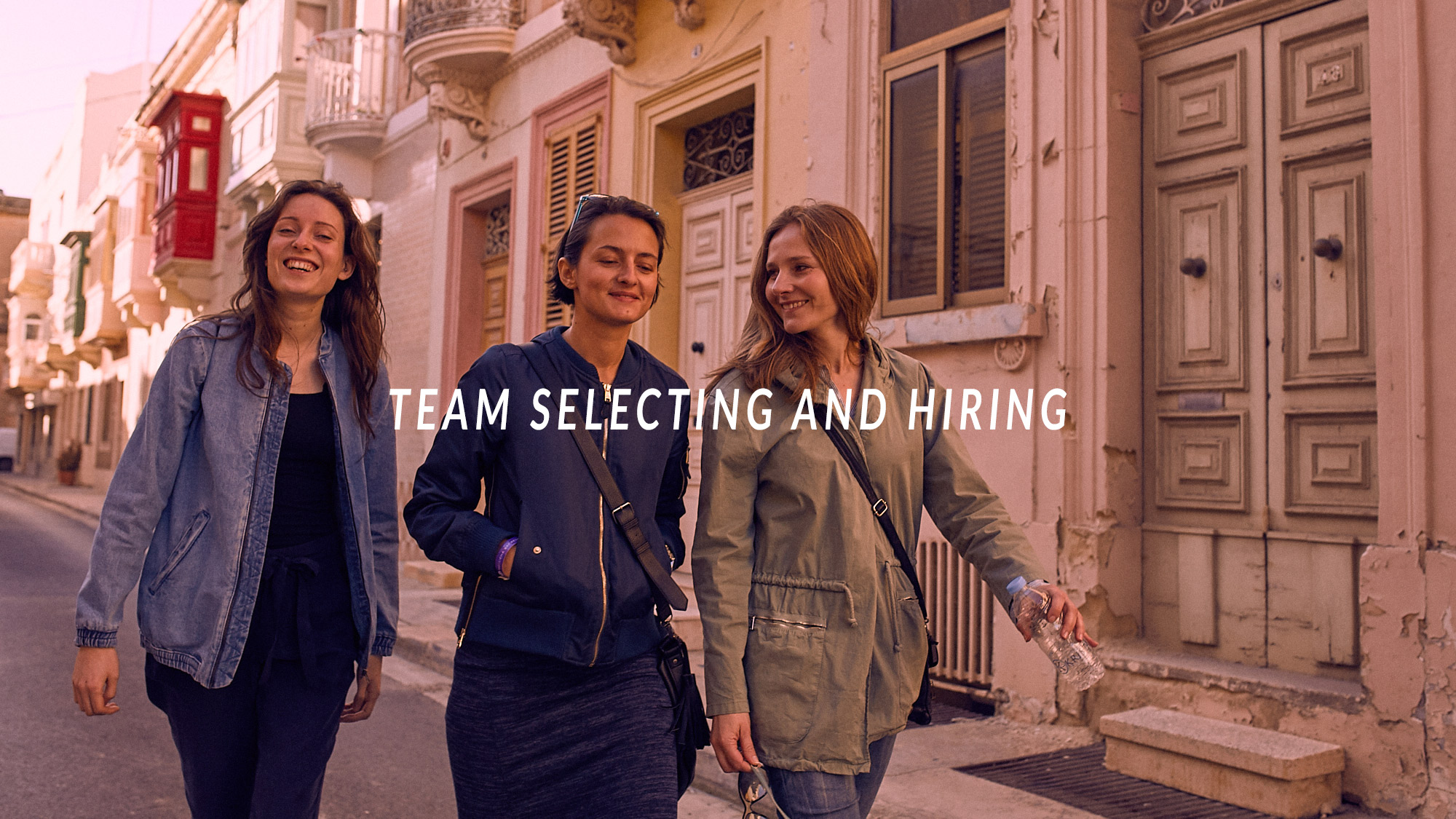 team selecting and hiring